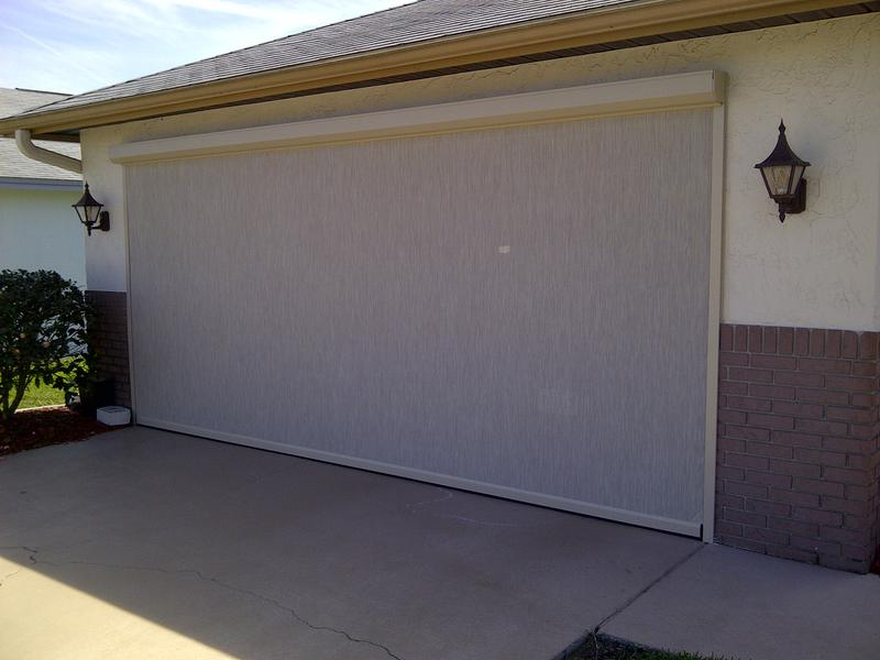 Roll down garage door screen floors doors interior for Roll down garage door screen